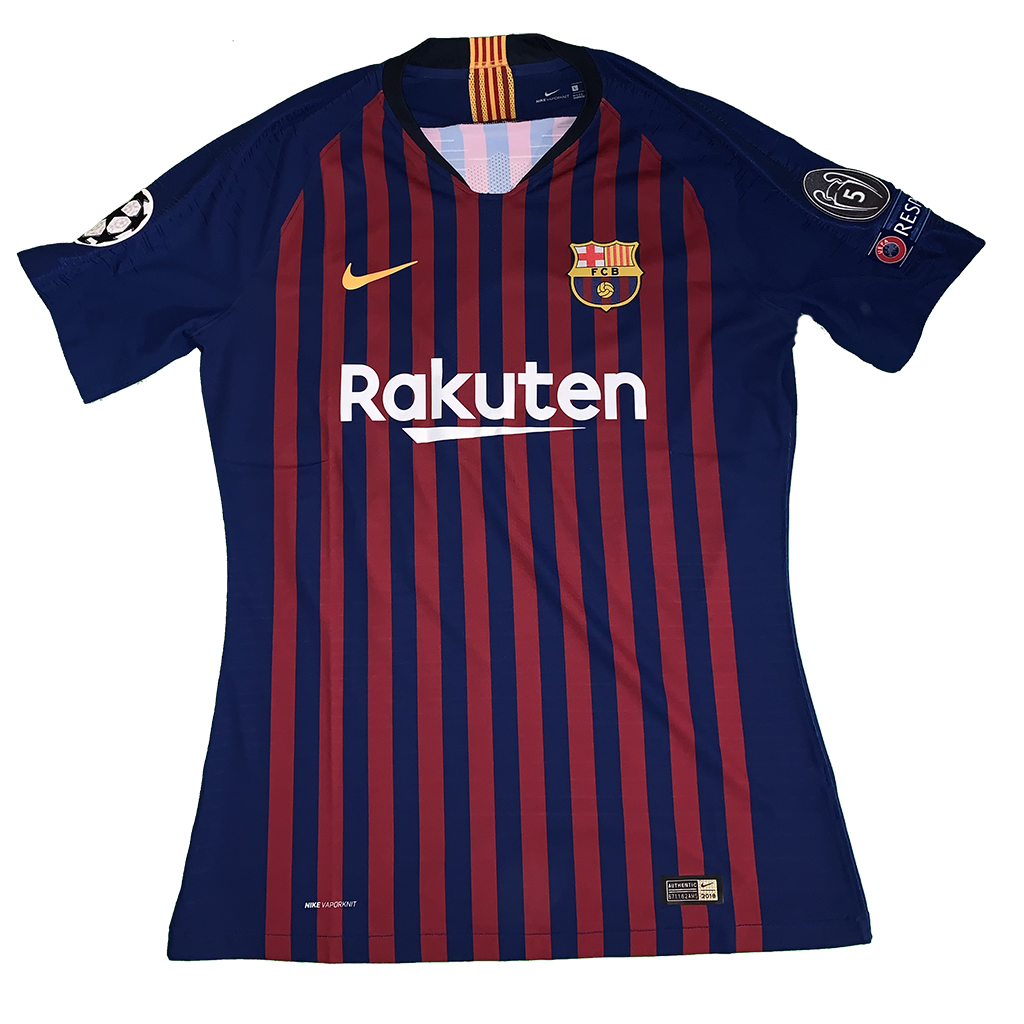 6ee60a09d32 match worn shirt. UEFA Champions League (group stage – match 1) FC Barcelona  – PSV Eindhoven 4 0 – 18 09 2018
